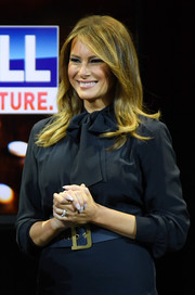 Melania Trump opted for a neutral mani when she attended a Las Vegas Town Hall meeting.