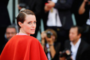 Claire Foy sported a slick side-parted 'do at the 2018 Venice Film Festival opening ceremony.