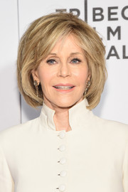 Jane Fonda attended the world premiere of 'The First Monday in May' wearing her hair in a textured bob.