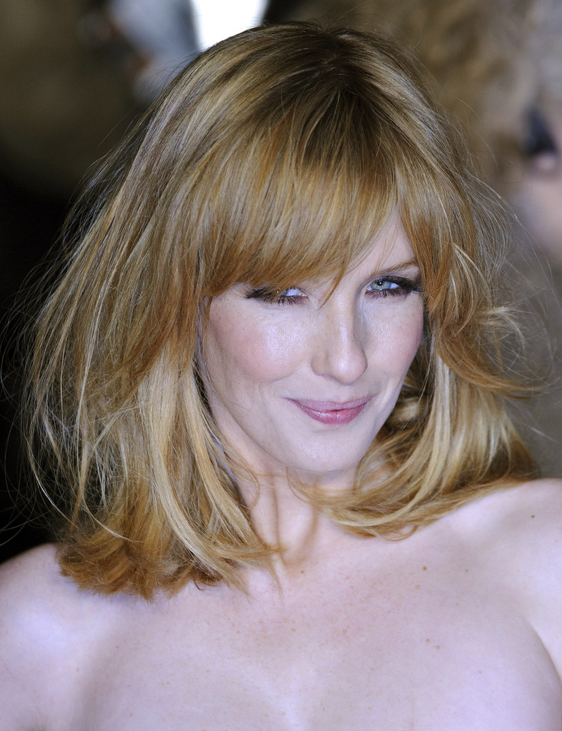More Pics Of Kelly Reilly Medium Straight Cut With Bangs