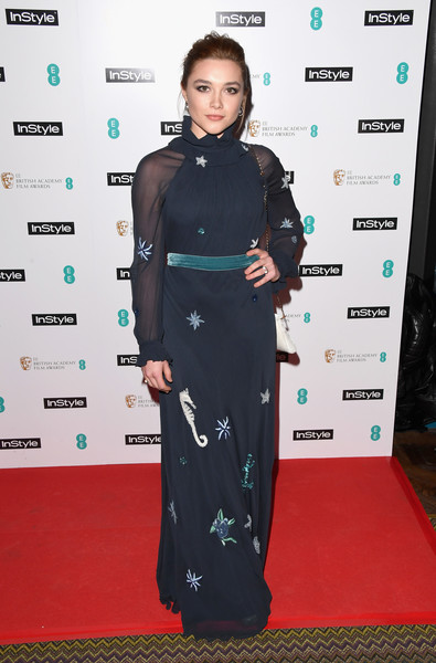 Florence Pugh Embroidered Dress