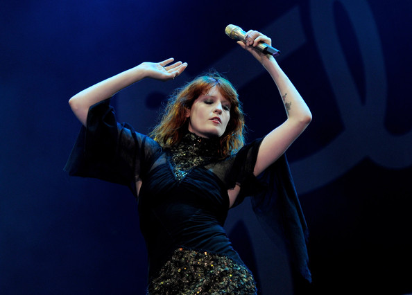 Florence Welch Heart Tattoo [day one,performance,singing,music artist,stage,performing arts,singer,beauty,entertainment,event,concert,chelmsford,england,florence welsh,florence and the machine,v festival 2010,day one]