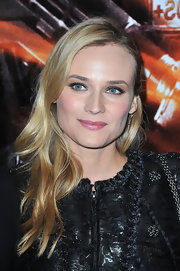 Diane Kruger softened her edgy look with pearly pink lipstick at the 'Forces Speciales' premiere in Paris.