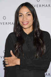 Rosario Dawson sported a hippie-glam 'do at the Females in Focus photo exhibition.