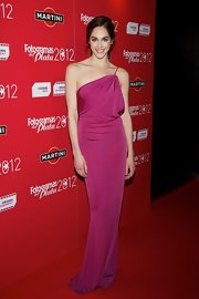 Barbara Gonzalez opted for a one-shouldered Grecian-inspired dress for her red carpet look at the Fotogramas Awards.