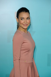 Naya Rivera attended the FOX 2012 Programming Presentation post-show party wearing a pair of sunrise hoop earrings in rose gold.