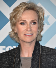 Jane Lynch styled her hair into a layered razor cut for the Fox All-Star party.
