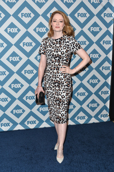 Miranda Otto was classic in a leopard-print sheath dress during the Fox All-Star party.