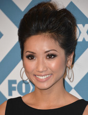 Brenda Song pulled her hair up into a sophisticated loose bun for the Fox All-Star party.