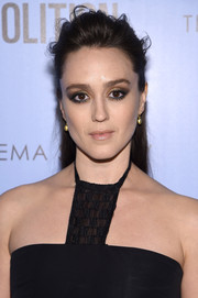 Heather Lind attended the 'Demolition' screening wearing her hair in a messy half-up style.
