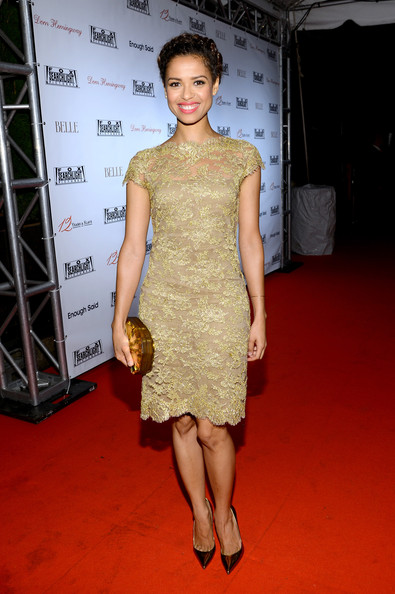 More Pics of Gugu Mbatha-Raw Pink Lipstick (1 of 4) - Gugu Mbatha-Raw Lookbook - StyleBistro [fashion model,dress,clothing,cocktail dress,shoulder,red carpet,carpet,fashion,hairstyle,flooring,gugu mbatha raw,toronto,canada,spice route,red carpet,fox searchlight,party,fox searchlight tiff,2013 toronto international film festival]