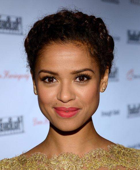 More Pics of Gugu Mbatha-Raw Pink Lipstick (4 of 4) - Gugu Mbatha-Raw Lookbook - StyleBistro [hair,face,eyebrow,hairstyle,lip,chin,forehead,beauty,brown hair,black hair,gugu mbatha raw,toronto,canada,spice route,red carpet,fox searchlight,party,fox searchlight tiff,2013 toronto international film festival]