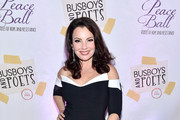 Fran Drescher Off-the-Shoulder Dress