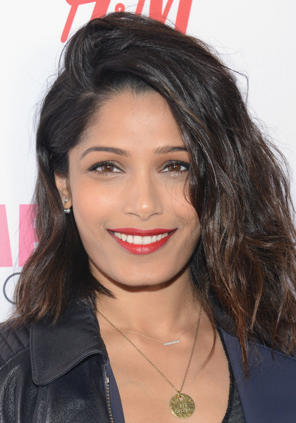 Freida Pinto Red Lipstick - Beauty Lookbook - StyleBistro