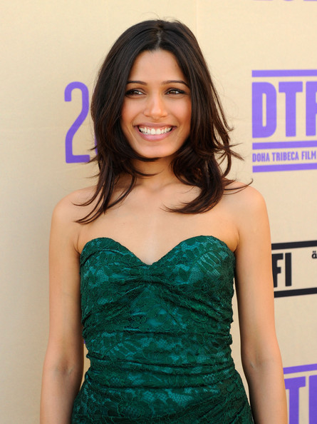 Freida Pinto Medium Layered Cut