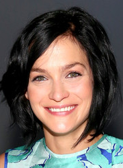 Leigh Lezark attended the Richard Chai Love fashion show wearing a messy-chic short 'do.