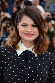 Melonie Diaz rocked a pinned back wavy 'do at the Cannes Film Festival.