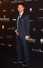 Yuto Nagatomo jazzed up his outfit with black leather loafers at Fundaction Privada Samual Eto'o charity event.