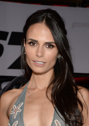 Jordana Brewster opted for a simple yet lovely half-up hairstyle when she attended the 'Furious 7' LA premiere.