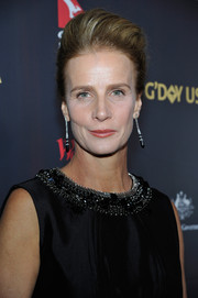 Rachel Griffiths teased her hair into an elegant pompadour for the G'Day USA Black Tie Gala.