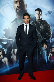 D.J. Cotrona wore a classic two-button suit for his red carpet appearance at the 'GI Joe: Retaliation' premiere.