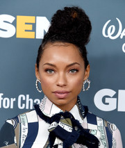 Logan Browning rocked a towering curly bun at the GLSEN Respect Awards.