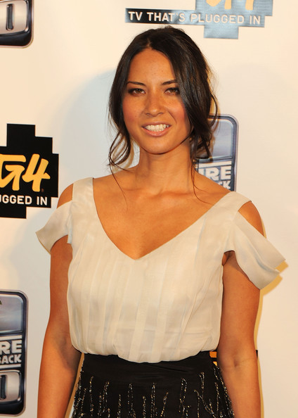More Pics of Olivia Munn Fitted Blouse (1 of 10) - Olivia Munn Lookbook - StyleBistro