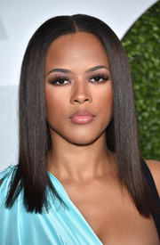 Serayah McNeill showed off a not-a-strand-out-of-place hairstyle at the GQ 20th Anniversary Men of the Year party.