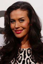 Megan Gale wore a cheery cherry lipstick with lots of shine at the 2011 'GQ' Australian Men of the Year Awards.