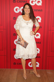 Julia Morris kept it classic and sweet in a white lace cocktail dress during the GQ Men of the Year Awards.