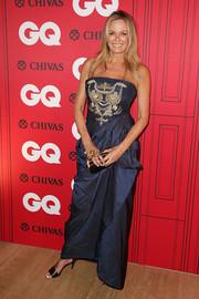 Charlotte Dawson chose a blue strapless gown with an embroidered bodice for the GQ Men of the Year Awards.
