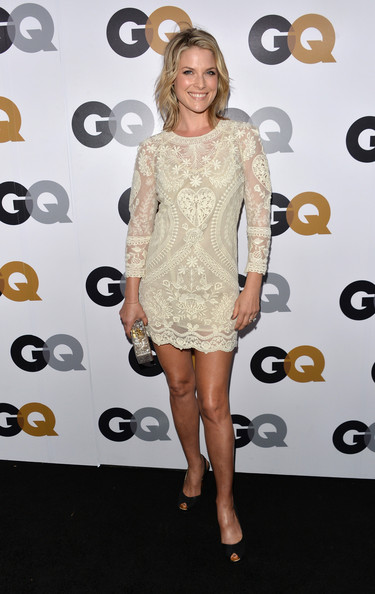 ali larter looks great in a long blue skirt paired with a
