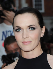 Victoria Pendleton kept her look neat and simple with a classic bun.