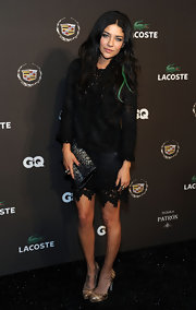Jessica looked sultry and stylish in a lacy black ensemble at the GQ Super Bowl Party.