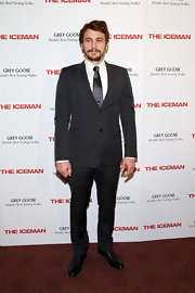 James Franco chose a dapper and chic two-button, notch-lapel suit for the red carpet of 'The Iceman.'