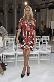 Nicky Hilton attended the Gabriela Cadena fashion show wearing a printed mini dress that oozed plenty of graphic appeal.