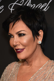 Kris Jenner attended the Angel Ball wearing a tousled short 'do.