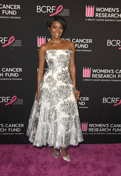 Gabrielle Union Evening Pumps [dress,clothing,fashion model,fashion,premiere,hairstyle,shoulder,gown,carpet,red carpet,arrivals,gabrielle union,beverly hills,california,beverly wilshire four seasons hotel,womens cancer research fund,the womens cancer research fund,an unforgettable evening benefit gala]