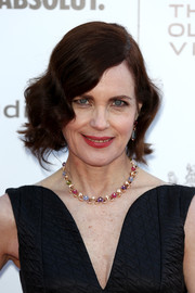 Elizabeth McGovern went vintage with this wavy bob at the gala celebration in honor of Kevin Spacey.