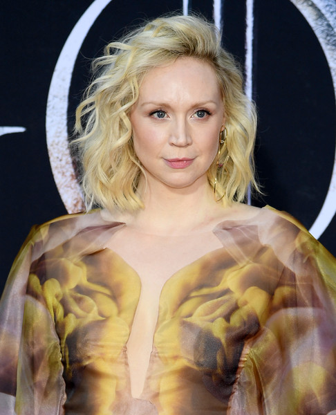 More Pics of Gwendoline Christie Pointy Flats (2 of 12) - Flats Lookbook - StyleBistro [game of thrones,season,hair,blond,hairstyle,lady,eyebrow,beauty,long hair,surfer hair,eye,lip,gwendoline christie,new york city,premiere]