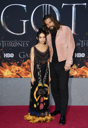 Lisa Bonet was boho, as always, in a fringed and embroidered gown by Dior at the 'Game of Thrones' season 8 premiere.
