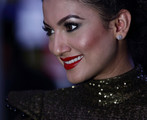 Gauhar Khan Red Lipstick