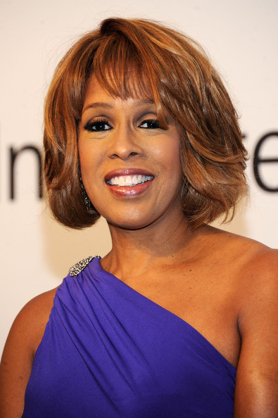 Gayle King Bob [hair,face,hairstyle,shoulder,eyebrow,chin,brown hair,layered hair,blond,long hair,oprah winfrey,arrivals,editor-at-large,ralph lauren,gayle king,lincoln center,new york city,o magazine,lincoln center presents: an evening with ralph lauren]