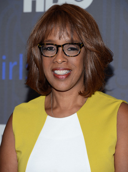 Gayle King Bob [season,hair,eyewear,face,glasses,hairstyle,yellow,blond,lip,layered hair,brown hair,arrivals,premiere of ``girls,gayle king,new york city,nyu skirball center,hbo hosts the premiere of ``girls,hbo]
