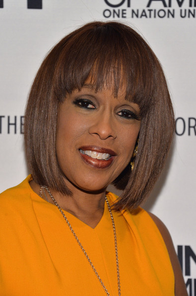 Gayle King Bob [the tanning of america premiere screening and party 2014,hair,face,hairstyle,bangs,chin,bob cut,layered hair,hair coloring,eyebrow,orange,gayle king,new york city,party,paley center for media,premiere screening]