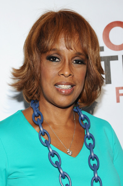 Gayle King Layered Razor Cut [hair,face,hairstyle,eyebrow,chin,blond,bangs,layered hair,brown hair,lip,vip lounge,gayle king,poverty,lounge,central park,new york city,global citizen festival in central park to end extreme poverty]