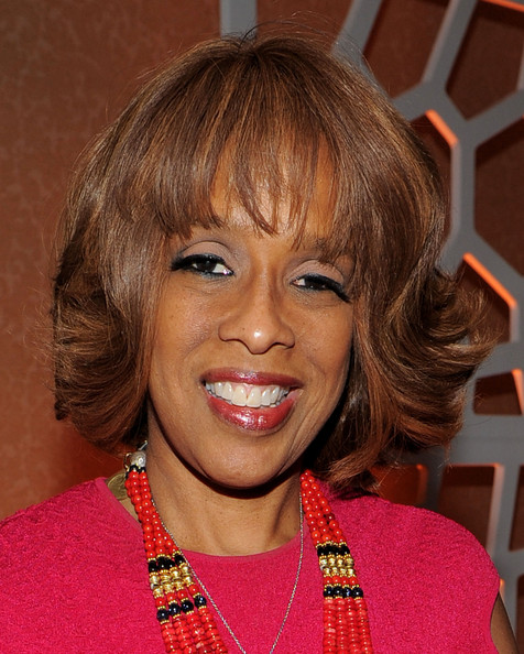 Gayle King Short Wavy Cut [party on the eve of the white house correspondents,hair,face,hairstyle,bangs,eyebrow,chin,blond,lip,smile,layered hair,gayle king,dinner,washington dc,people,party,eve,white house correspondents dinner]