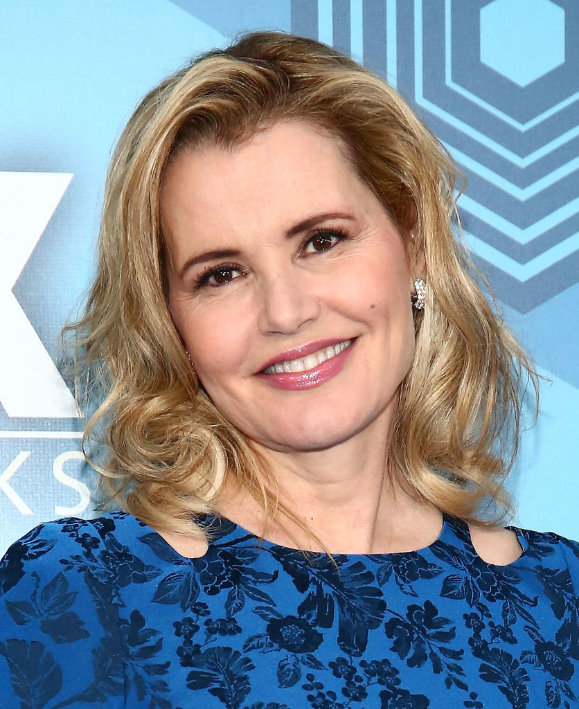 Geena Davis Medium Curls Shoulder Length Hairstyles