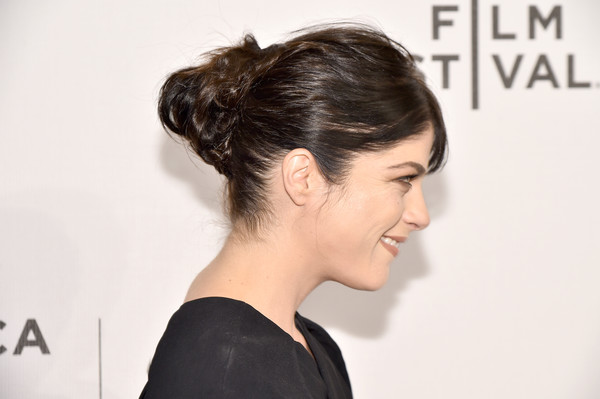 Selma Blair attended the Tribeca Film Fest premiere of 'Geezer' rocking a messy bun.