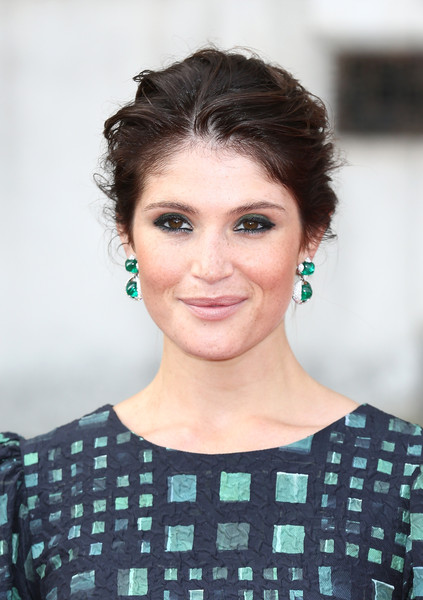 Gemma Arterton Nude Lipstick [hair,face,hairstyle,eyebrow,beauty,chin,forehead,lip,skin,eye,red carpet arrivals,gemma bovery,gemma arterton,uk,england,london,somerset house,premiere]